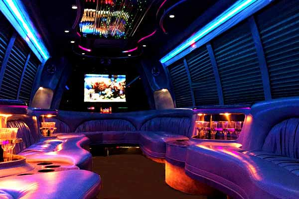 18 passenger party bus rental Greenfield