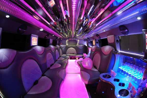 Cadillac Escalade limo interior Portage
