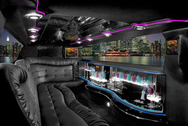 Chrysler 300 limo interior New Albany