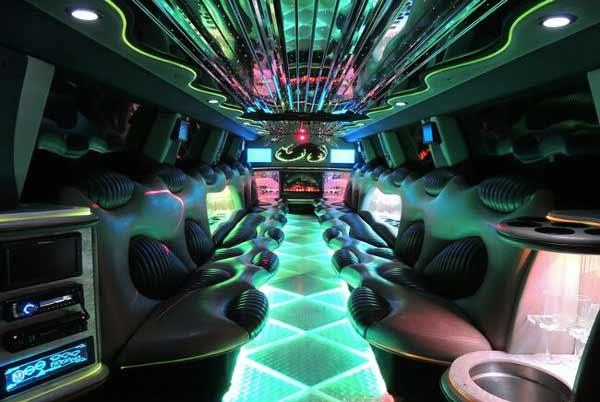Hummer limo interior Gary
