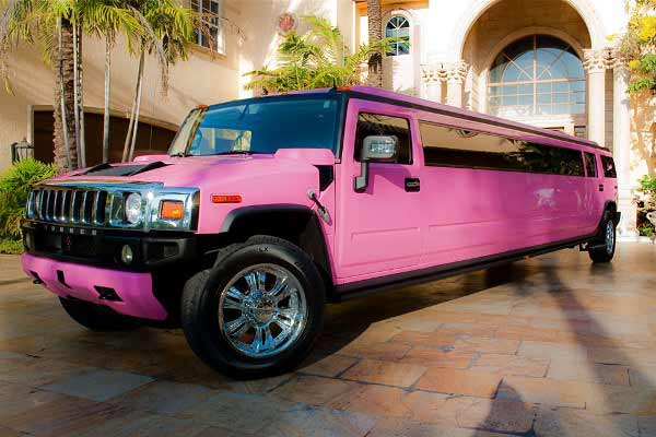 pink hummer limo service Speedway