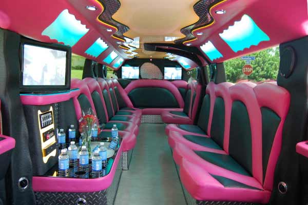 pink hummer limousine Anderson