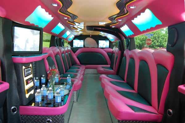 pink hummer limousine La Porte